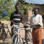 some of the youngmen who received bicycles