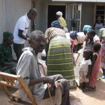 the elderly and the widows receiving help