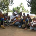 with the children at chamazi